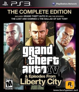 [PS3] GRAND THEFT AUTO IV: THE COMPLETE EDITION [ACTION (SHOOTER) / RACING (CARS / MOTORCYCLES) / 3D / 3RD PERSON] [НЕ ОФИЦИАЛЬНОЕ] [РУССКИЙ