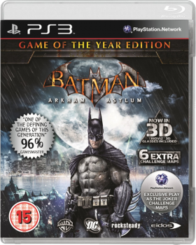 [PS3]Batman: Arkham Asylum GOTY [EUR/RUS/FIX] (Релиз от R.G. DShock)