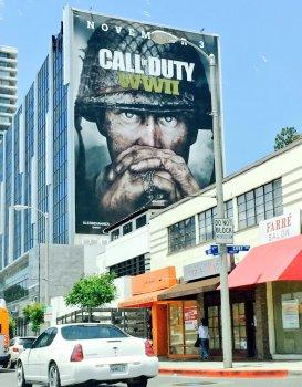 Call Of Duty: WW2 - получила огромный постер в Южной Калифорнии